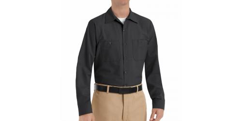 Chemise à bouton noir pour homme manche longue